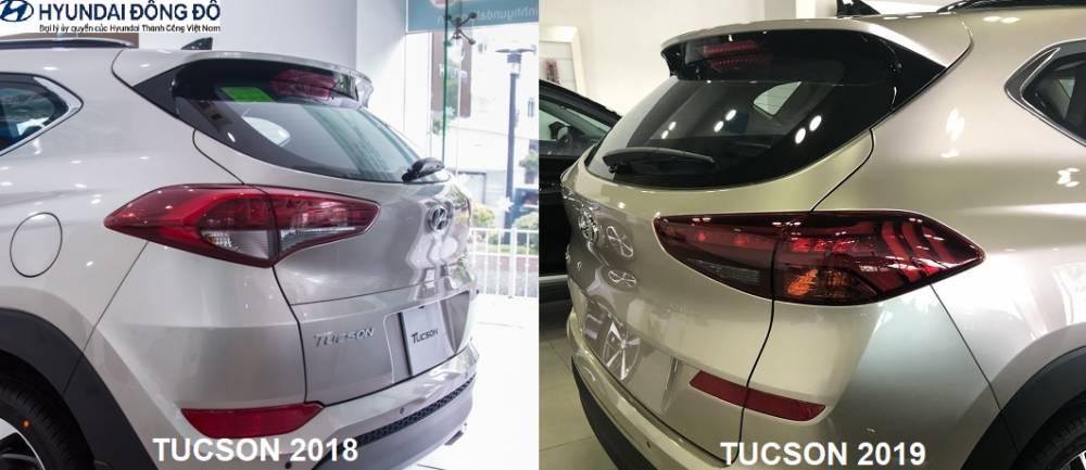 So sánh đèn sau Tucson 2019