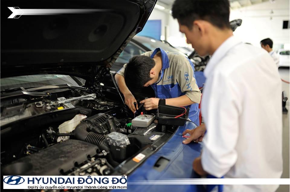 Đến Hyundai Đông Đô bảo dưỡng